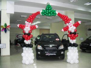 Стильная арка на новый год воздушными шарами