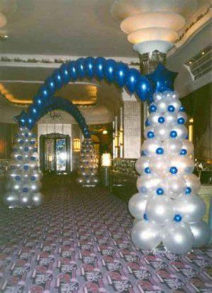 Красивая арка на новый год шариками недорого