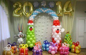 Оригинальная арка на новый год
