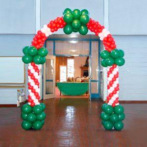 Недорогая арка на новый год шарами недорого