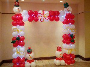 Необычная арка на новый год шариками