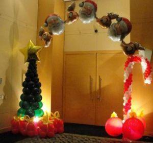 Недорогая арка на новый год воздушными шариками недорого