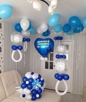 Бюджетное Украшение квартиры на выписку шарами срочно