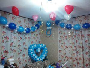 Тематическое Украшение квартиры на выписку воздушными шарами