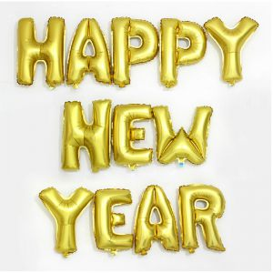 Красивое оформление буквы новый год шариками