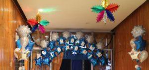 Интересное оформление буквы новый год воздушными шарами в Москве
