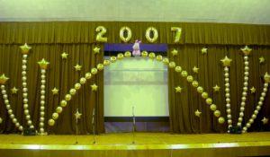 Необычное оформление буквы новый год шарами в Москве