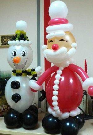 Оригинальный дед мороз из шаров в Москве