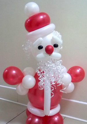 Стильный дед мороз из шаров срочно