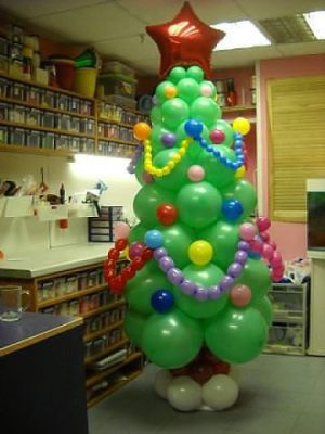 Красивый декор на новый год воздушными шарами недорого