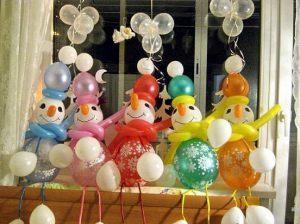 Стильный декор на новый год воздушными шарами в Москве