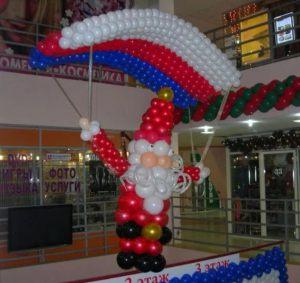 Красивый декор на новый год воздушными шариками недорого