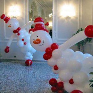 Красивый декор на новый год воздушными шариками в Москве