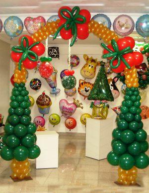 Стильный декор на новый год воздушными шариками недорого