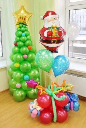 Стильный декор на новый год шарами в Москве