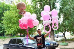 Интересное доставка шаров на выписку из роддома недорого