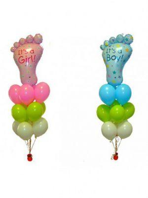Современные фольгированные шары на выписку из роддома шариками срочно