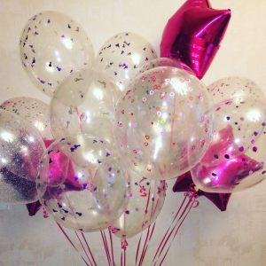 Стильные гелиевые шары на Новый год купить в Москве