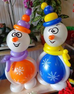 Тематические гелиевые шары на Новый год купить недорого