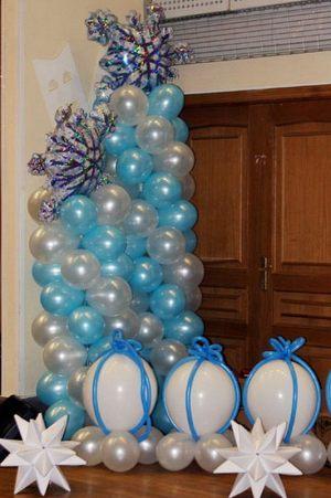 Тематическое оформление интерьера на новый год воздушными шарами срочно