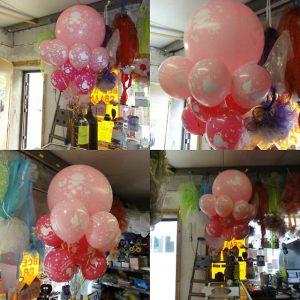 Стильно оформить композицию из шаров на выписку из роддома воздушными шарами недорого