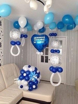 Недорого оформить композицию из шаров на выписку из роддома воздушными шарами срочно