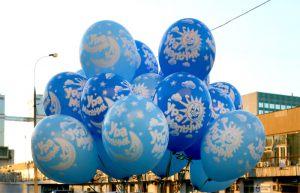 Необычно оформить композицию из шаров на выписку из роддома воздушными шариками в Москве