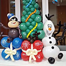 Стильная новогодняя композиция шарами срочно