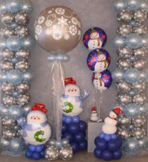Бюджетная новогодняя композиция шарами срочно