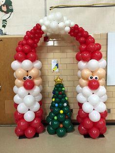Интересная новогодняя композиция воздушными шарами срочно