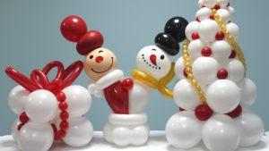 Современная новогодняя композиция шарами срочно