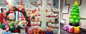 Современная новогодняя композиция шарами недорого
