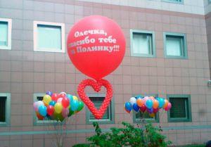 Недорогие шары на выписку из роддома в Москве