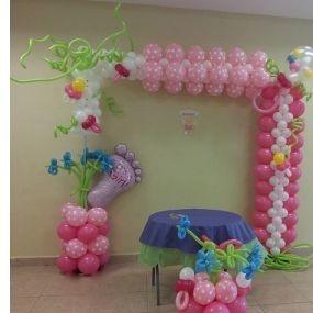 Купить красивые шары на выписку из роддома в Москве
