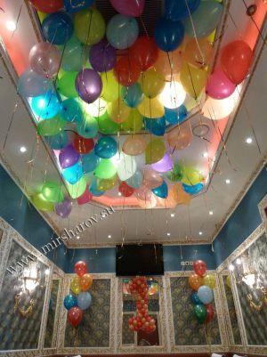 Бюджетное оформление мальчику на день рождение воздушными шарами в Москве