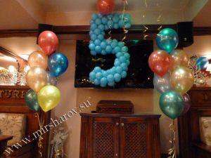 Необычное оформление мальчику на день рождение воздушными шарами
