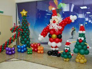 Тематическое украшение на новый год воздушными шарами срочно