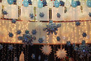 Красивое украшение на новый год шарами в Москве