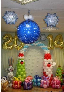 Оригинальное оформление шарами на новый год воздушными шарами срочно