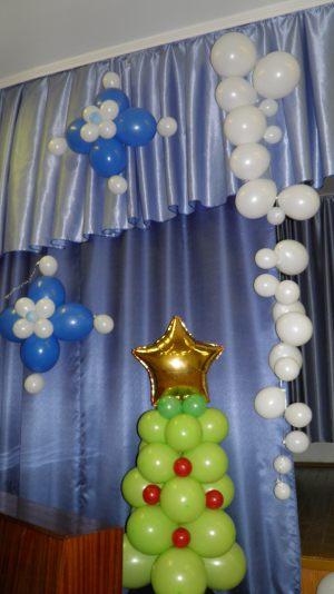 Бюджетное оформление шарами на новый год шариками