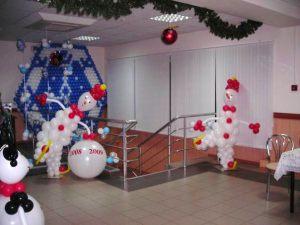 Необычное оформление шарами на новый год в Москве