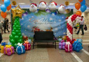 Тематическое оформление шарами на новый год шарами