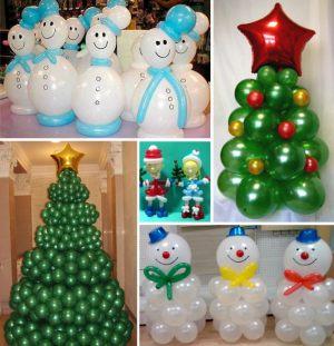 Современное оформление класса шарами на новый год срочно