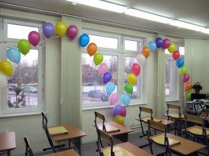 Тематическое оформление класса шарами на новый год в Москве