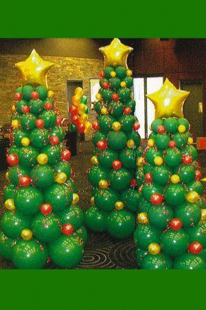 Недорогое оформление класса шарами на новый год шариками