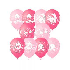 Тематическое оформление на выписку из роддома воздушными шарами срочно