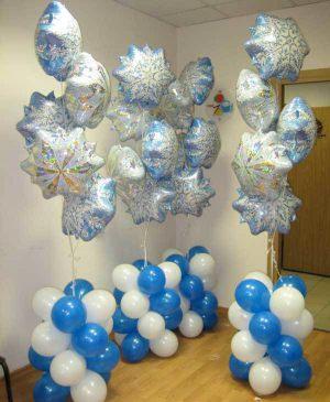 Оригинальное оформление новогоднего праздника воздушными шарами