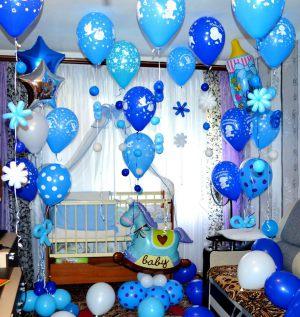 Стильное Украшение шарами на выписку шарами в Москве