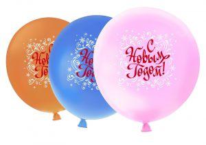 Бюджетные большие шары на новый год