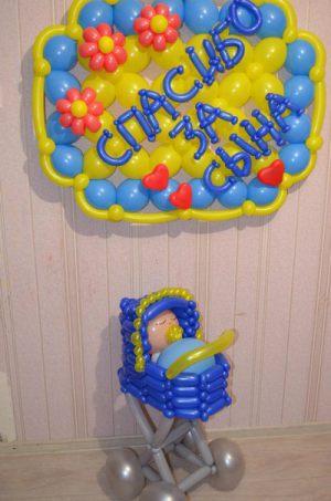Современные шары на выписку из роддома для мальчика недорого